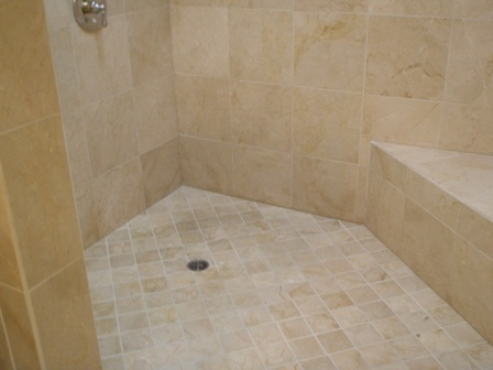 Clean Tile Shower Floor