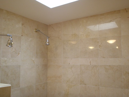 Cleaning shower tile cleaning marble showers cleaning for Best product for cleaning bathroom tiles