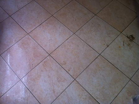 how to clean yellowed porcelain tiles