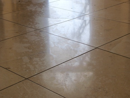 Etched Marble Floor