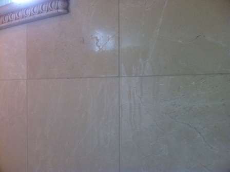 Marble Shower Etch Mark
