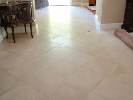 sealing limestone tile