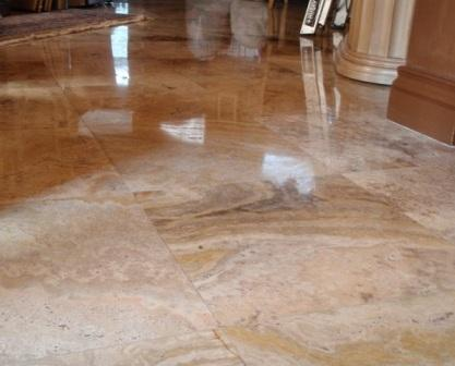 sealing travertine tile