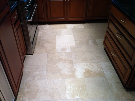 Clean Travertine Floor