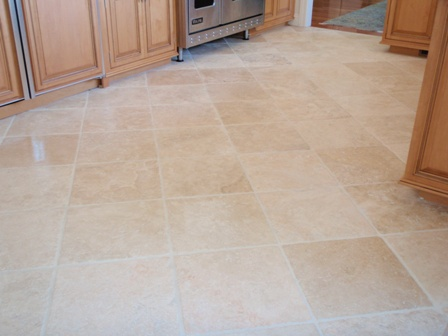 Sealer And Then Buff Off Maintaining Travertine Sealing Tile