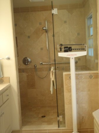 Travertine shower hot to clean travertine tile clean for Cleaning products for marble showers
