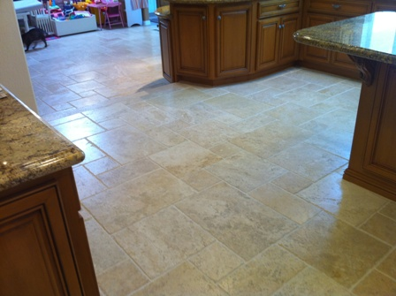 Acidic And Even Akaline Chemicals Will Etch The Travertine Vinegar Is Bleach So You Do Not Want To Clean With Either One