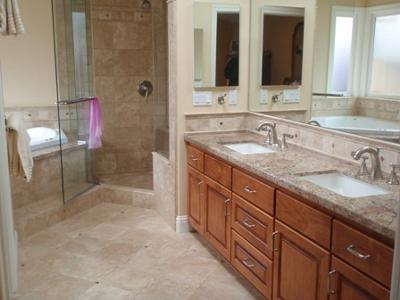 Clean travertine floors