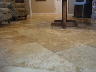 Honed Travertine Floors