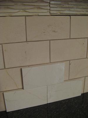 Lime Stone Tile Changed Color