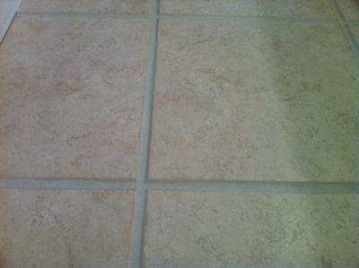 Ceramic Tile and Grout After Cleaning and Colorsealing