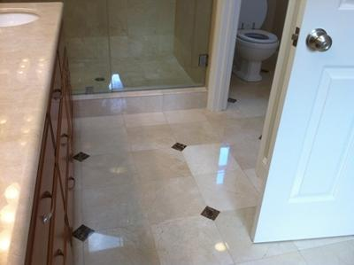 Polished Marble Floor and Countertop
